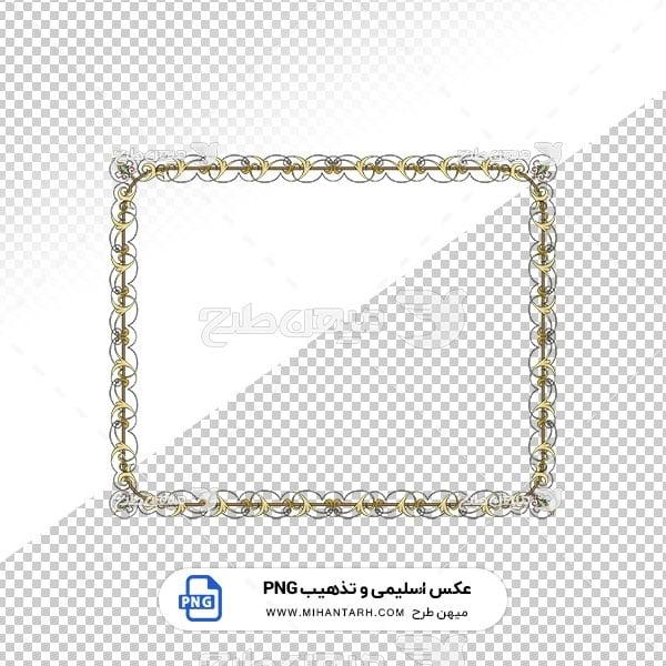 عکس برش خورده اسلیمی و تذهیب حاشیه طرح زیبا