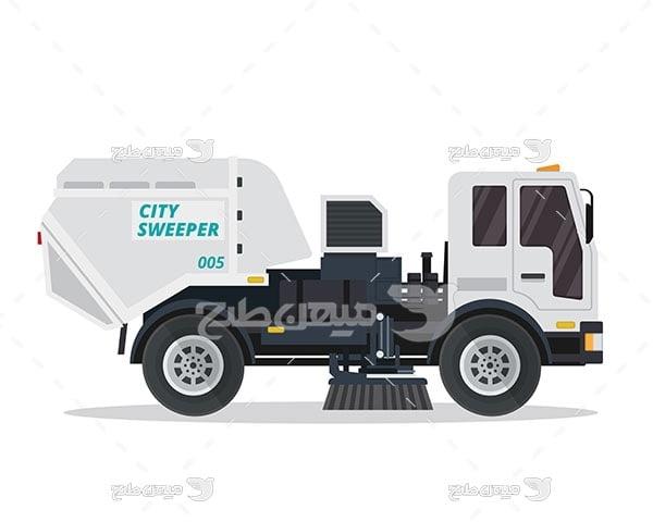 وکتور ماشین شستشوی خیابان