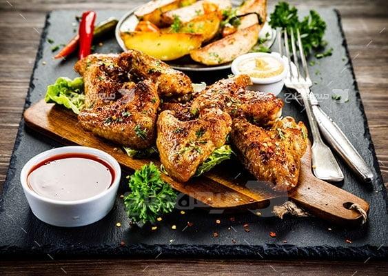 عکس تبلیغاتی غذا مرغ تنوری