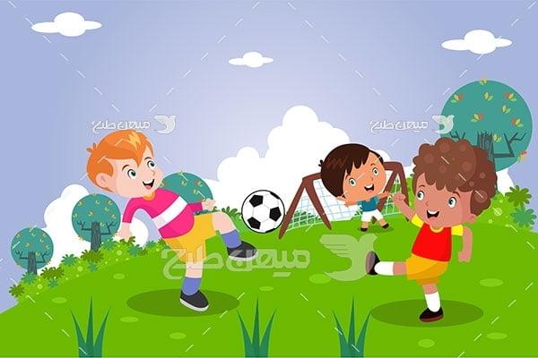 وکتور بازی فوتبال کودکان