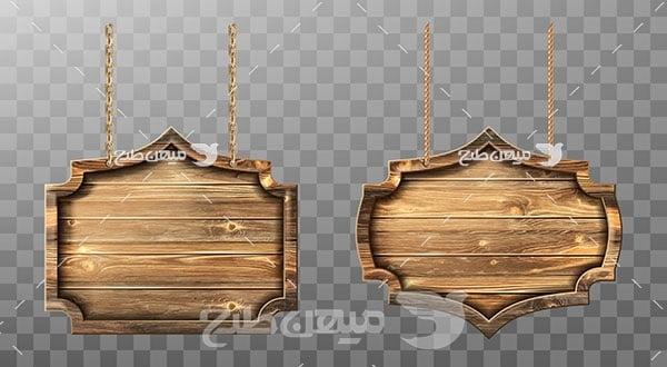 وکتور قاب تابلو چوبی