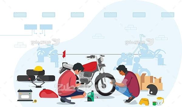 وکتور تعمیر موتور سیکلت