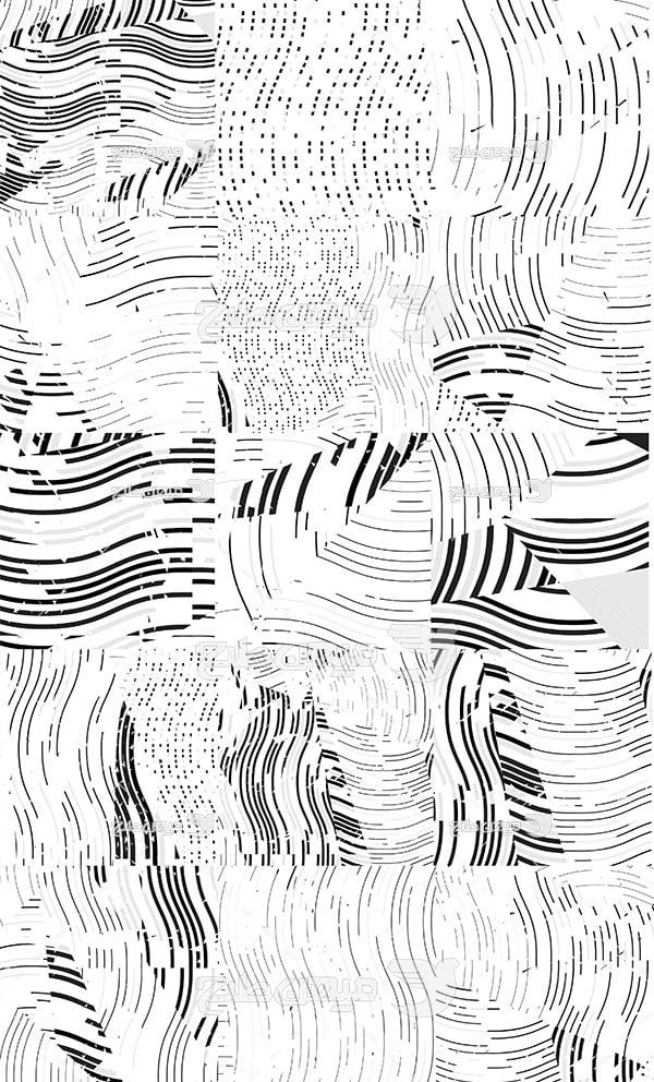 وکتور بک گراند خطوط سیاه و سفید