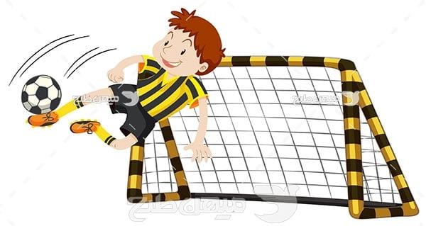 وکتور فوتبالیست نوجوان