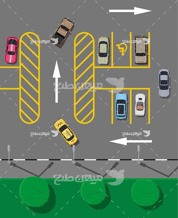وکتور روش پارک کردن