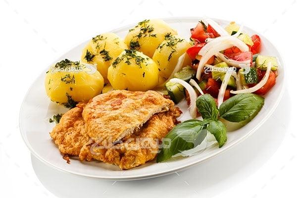 عکس تبلیغاتی غذا مرغ سوخاری