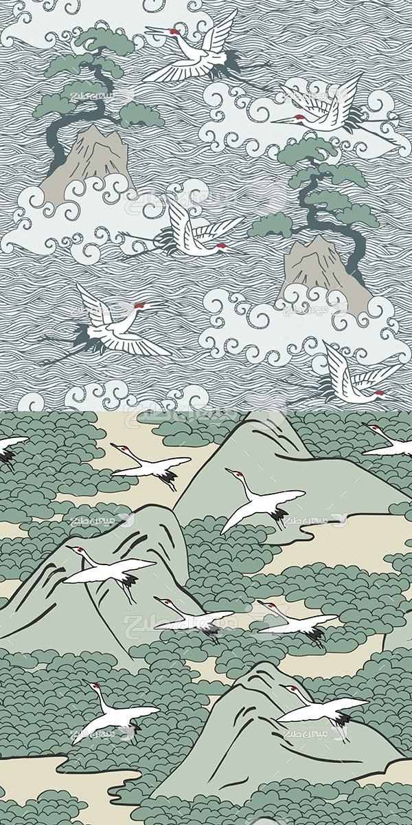 وکتور کاراکتربک گراند طرح اقیانوس