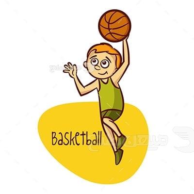 وکتور ورزش بسکتبال جوانان