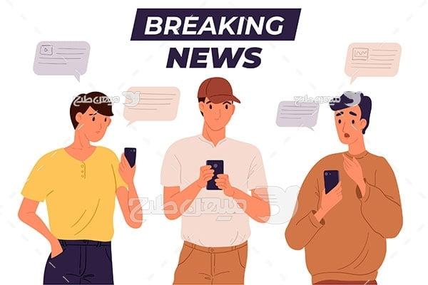 وکتور اعلام خبر بد
