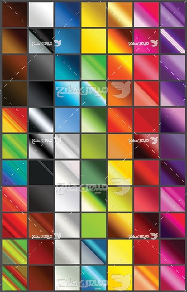 مجموعه ابزارهای فتوشاپ گرادینت طیف دو رنگی
