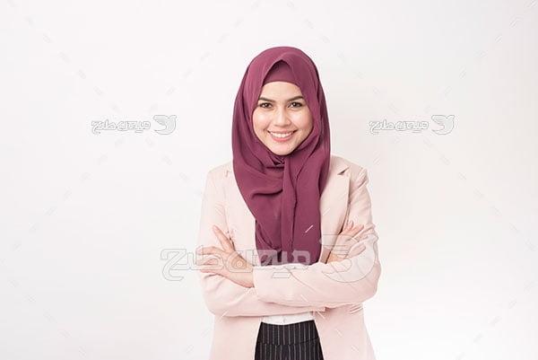 عکس لبخند خانم مسلمان