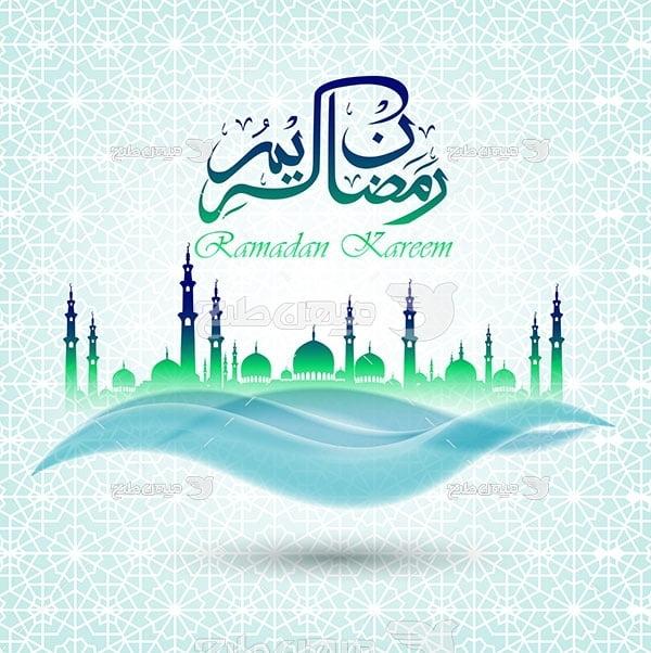 وکتور ماه عبادت خدا رمضان