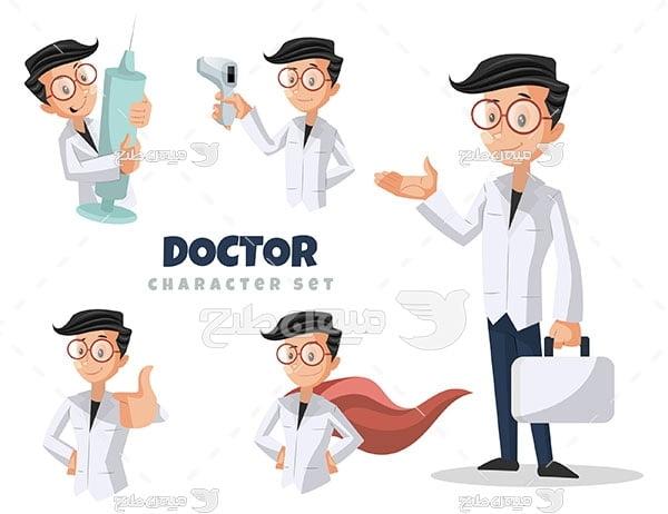 وکتور پزشک جوان