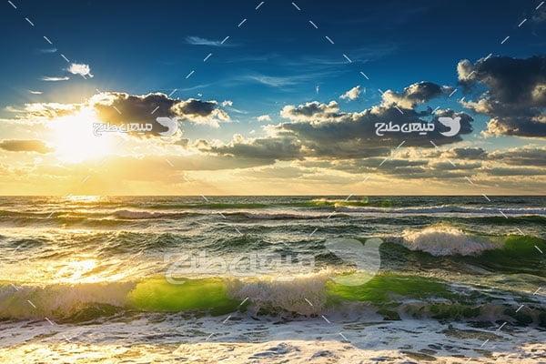 عکس ساحل مواج