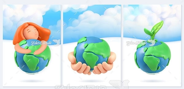 وکتور طبیعت زمین