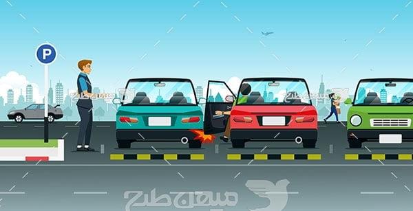 وکتور ماشین و پارکینگ عمومی