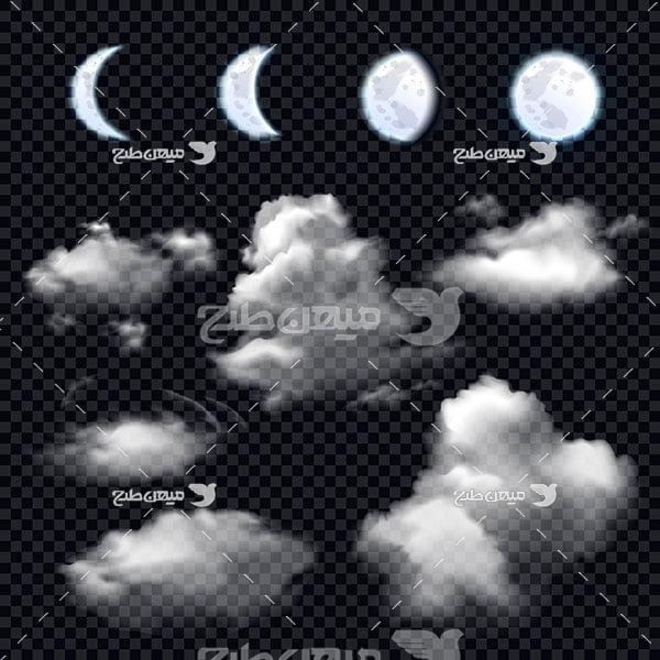 وکتور کاراکتر آسمان شب