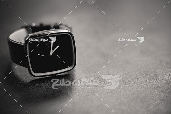 عکس ساعت مچی مشکی