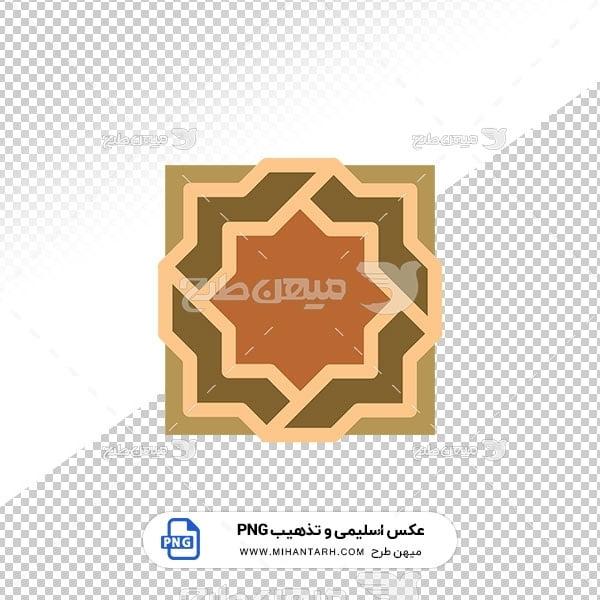 عکس برش خورده اسلیمی و تذهیب حاشیه چند ضلعی
