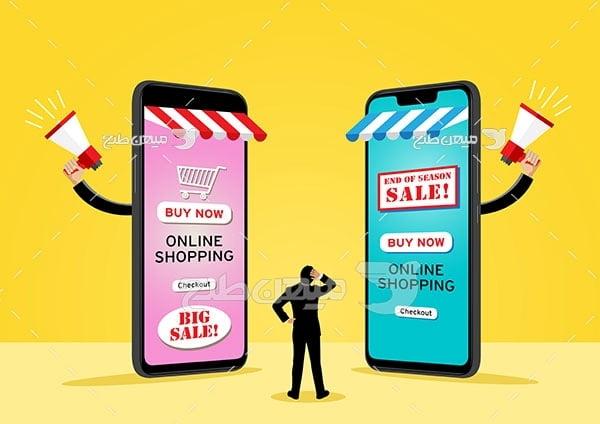 وکتور رقابت فروش آنلاین