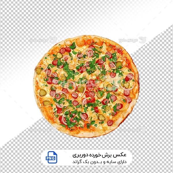 عکس برش خورده پیتزا