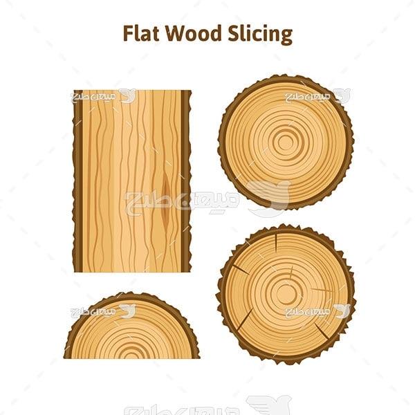 وکتور برش چوب صاف