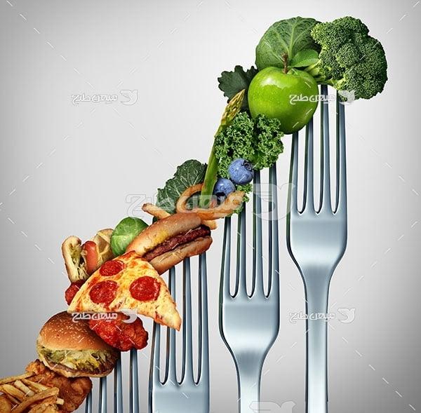 عکس تبلیغاتی غذا سلامتی بدن