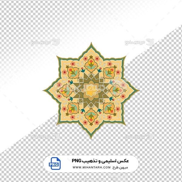 عکس برش خورده اسلیمی و تذهیب گل های ظریف