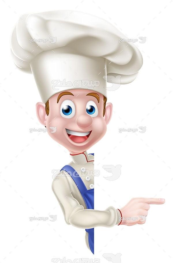 وکتور آشپز جوان
