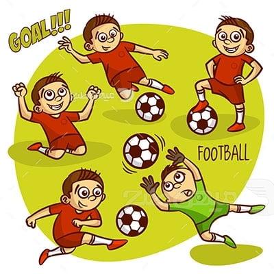 وکتور ورزش و فوتبال خردسالان