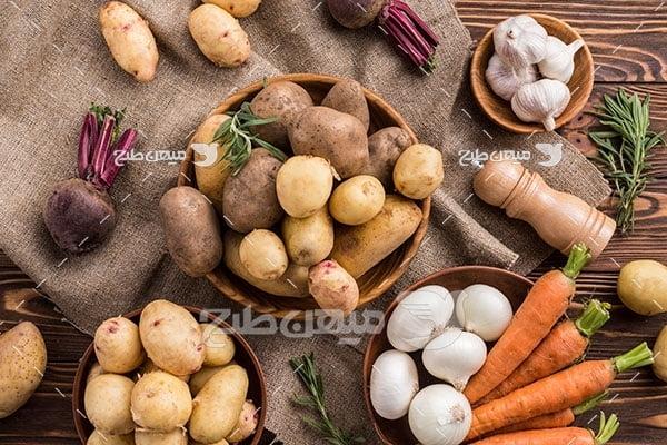 عکس مواد اولیه غذا