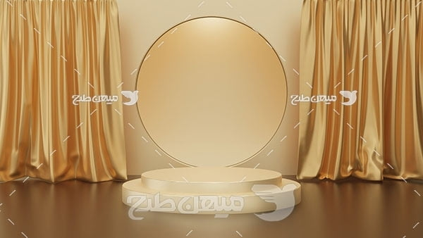عکس بک گراند مدل مینیمال طلایی