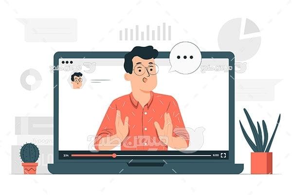 وکتور آموزش آنلاین