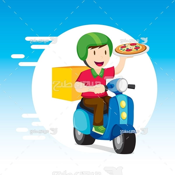 وکتور پیک تحویل پیتزا