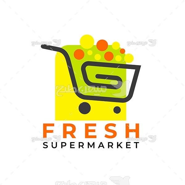 لوگو و آیکن فروش مواد غذایی تازه