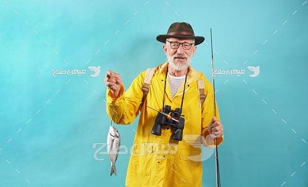 عکس مرد ماهی گیر