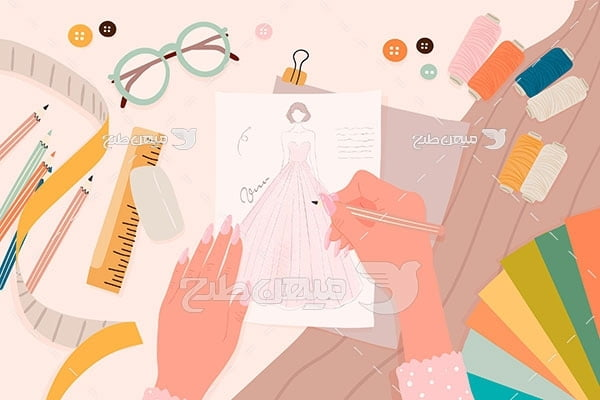 وکتور طراحی لباس
