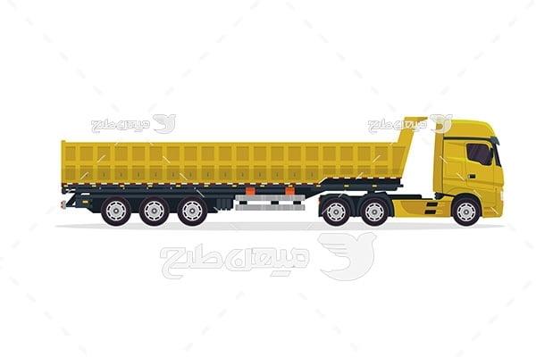 وکتور کامیون تریلی