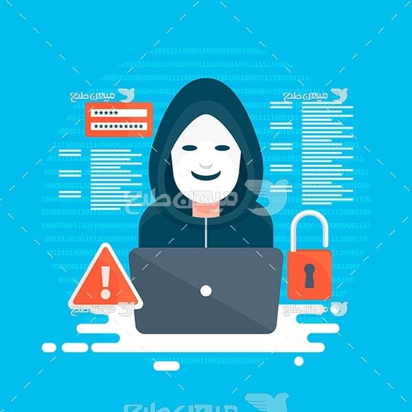 وکتور هک کردن رمز عبور