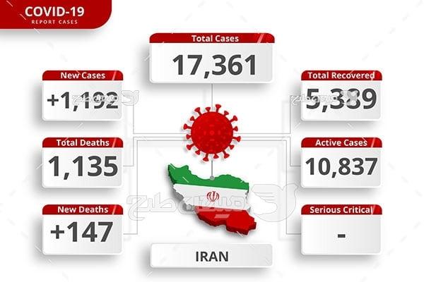 وکتور مبتلایان ویروس در ایران