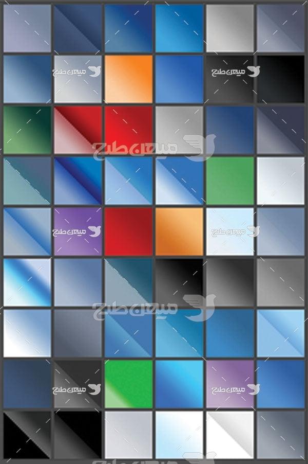 مجموعه ابزارهای فتوشاپ گرادینت طیف رنگ تیره