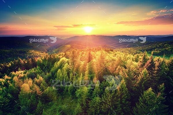 عکس تبلیغاتی طبیعت طلوع خورشید