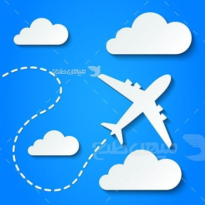 وکتور کاراکتر مسافرت و سفر هوایی