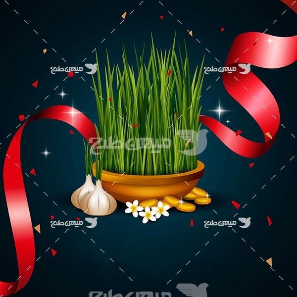 وکتور سبزه عید