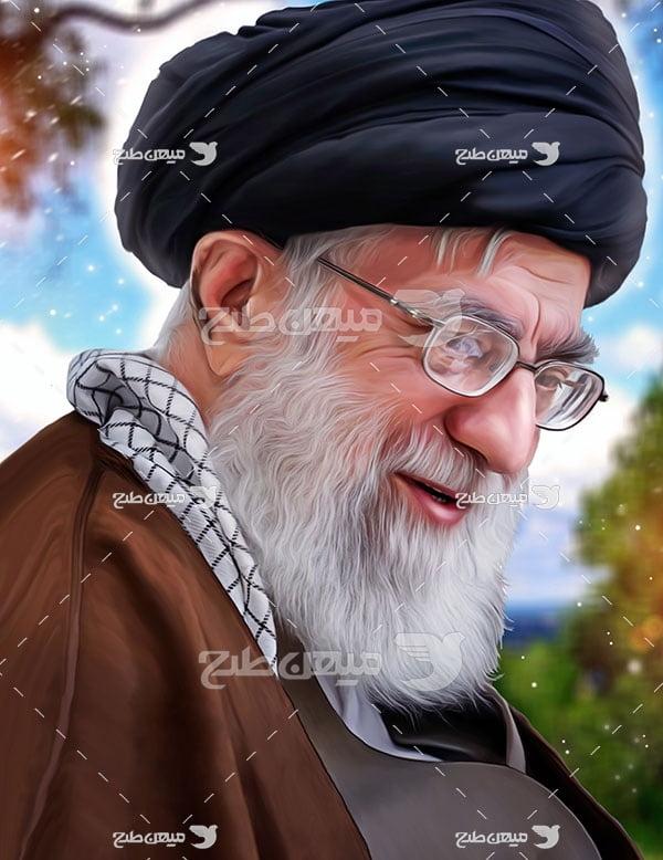 عکس سید علی خامنه ای