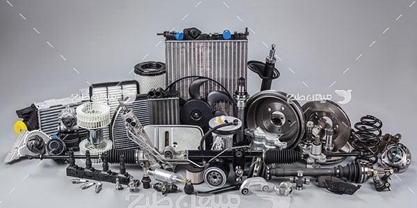 عکس تبلیغاتی قطعات اجزای داخلی ماشین