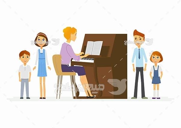 وکتور کلاس پیانو
