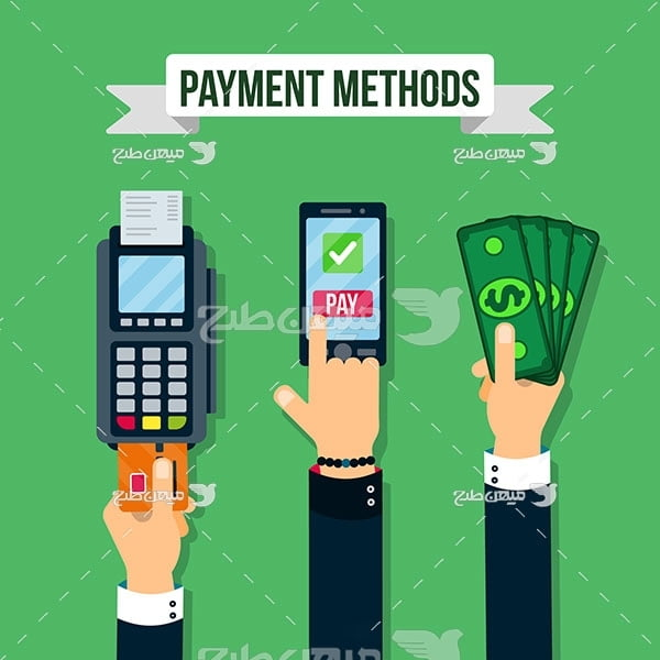 وکتور روشهای پرداخت پول
