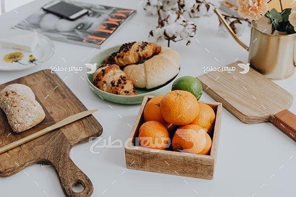 عکس شیرینی و میوه