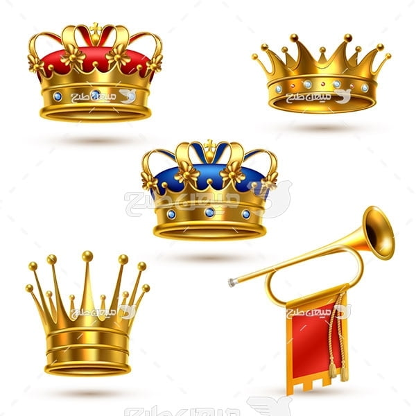 وکتور کاراکتر جواهر و تاج پادشاهی